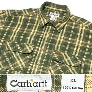 Carhartt  Heavy Flannel Long Sleeve Work Shirt